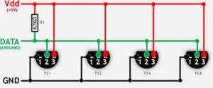 DS18B20 подключение к Arduino-3