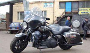 Установка акустики на Harley Davidson-1