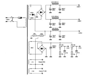 Схема лампового усилителя на ГУ-50-bp