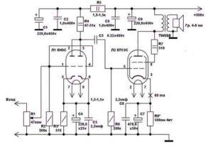 Ламповый усилитель мощности звука-9