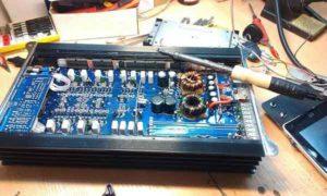 Ремонт автомобильного усилителя звука-0