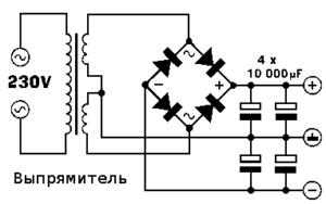 Схема простого усилителя звука на транзисторах-3