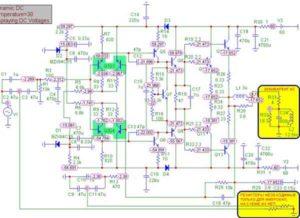 Схема усилителя Ланзар-18