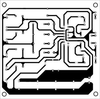Схема печатной платы 4 канального усилителя-3