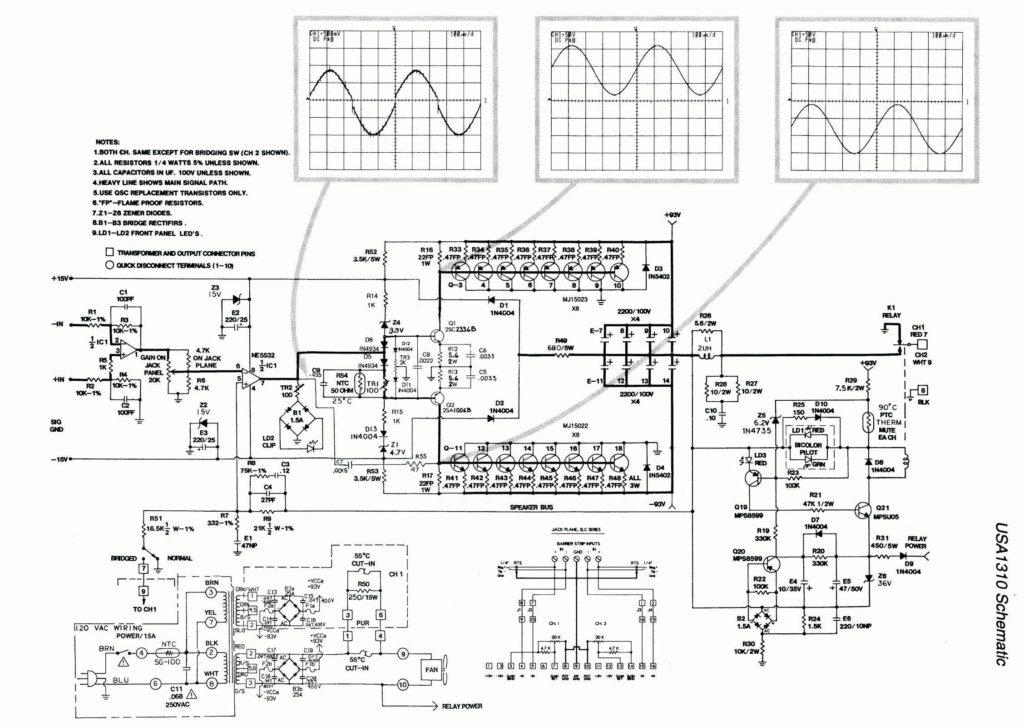 Схема усилителя QSC USA1310