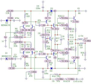 Схемы УМЗЧ на транзисторах-2