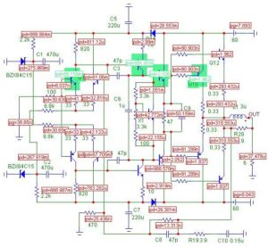 Схемы УМЗЧ на транзисторах-4