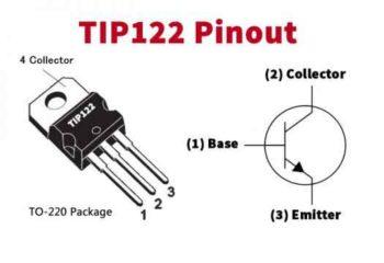 Распиновка TIP122