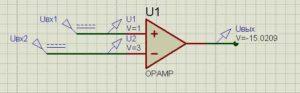 Схема операционного усилителя-2