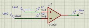 Схема операционного усилителя-3