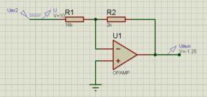 Схема операционного усилителя-4