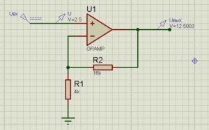 Схема операционного усилителя-9