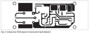 Схема печатной платы датчика перегрузки по току