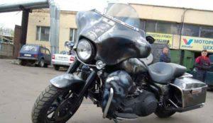 Установка акустики на Harley Davidson-3