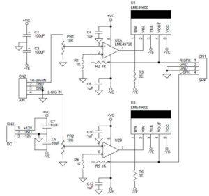 Hi Fi стерео усилитель-схема