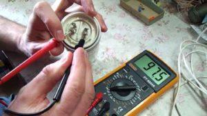 Замер напряжение на электролите