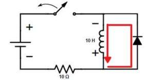 Обрыв цепи с обратным диодом