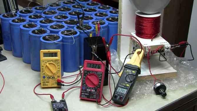Как зарядить конденсаторы