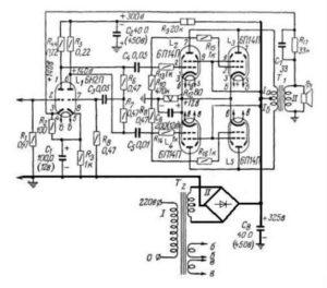 Ламповый усилитель на 6п14п схема-2