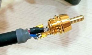 Установка RCA на провод