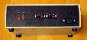 Вид усилителя сзади-Микросхема усилитель звука