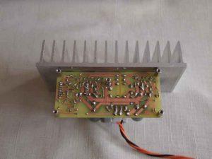 Плата со стороны пайки на радиаторе-Микросхема усилитель звука