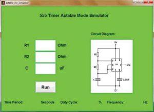 Графический интерфейс для симулятора нестабильного режима таймера 555