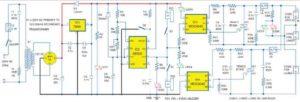 Принципиальная схема мигалки лампы переменного тока с использованием таймера NE555