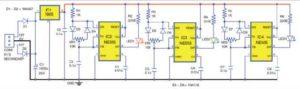 Принципиальная схема лампы RGB с таймером 555