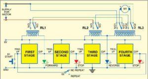 Последовательный таймер для управления двигателем постоянного тока