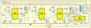Схема последовательного таймера управления двигателем постоянного тока