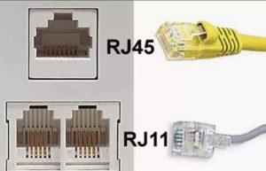 Обжим витой пары-RJ11-RJ45