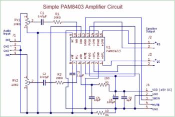 PAM8403 усилитель-1