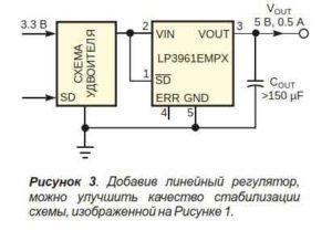 Повышаем напряжение с помощью аудиоусилителя-3