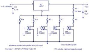 Цифровой регулятор напряжения LM317