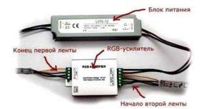 RGB лента с контроллером и пультом-3