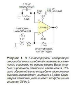 Схема генератора сигнала-1