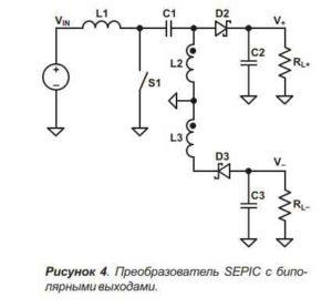Схема импульсного преобразователя-4