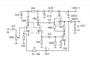 схема лампового усилителя для наушников-4