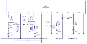 Схема усилителя НЧ-1