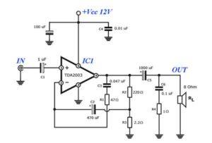 Схема усилителя TDA2003-2