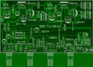 Схема усилителя TDA2003-7