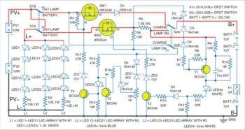 Принципиальная схема солнечного дневного светильника