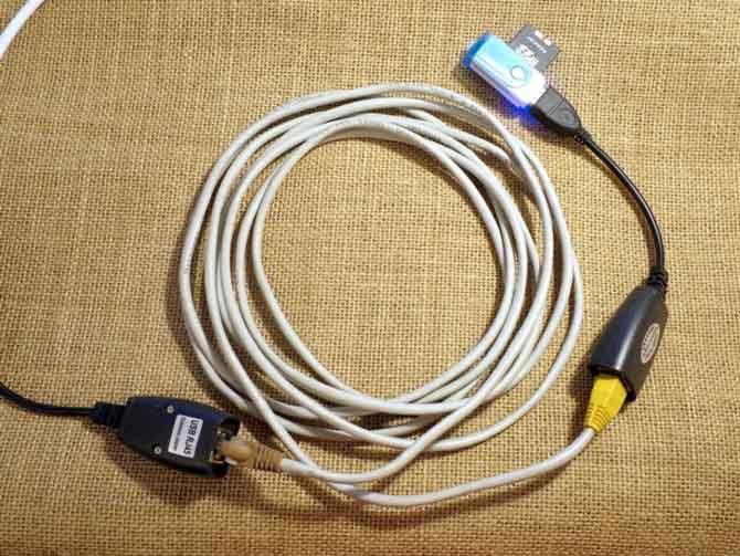 Удлинитель USB на витой паре-4