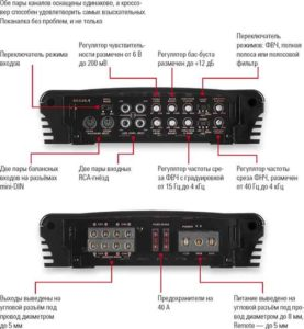 Усилитель двухканальный для сабвуфера-12