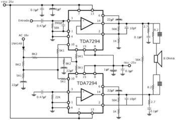 Усилитель на TDA7294-1