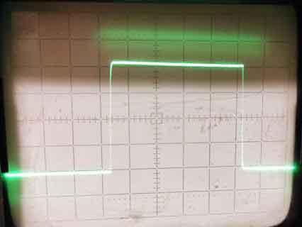 Меандр, частота 1кГц