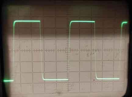 Меандр, частота 10кГц