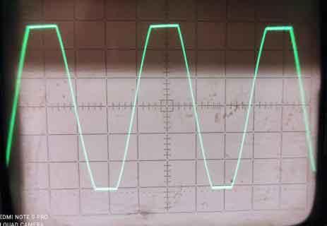 Синусоида, ограничение, частота 1кГц