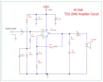Схема усилителя ТДА